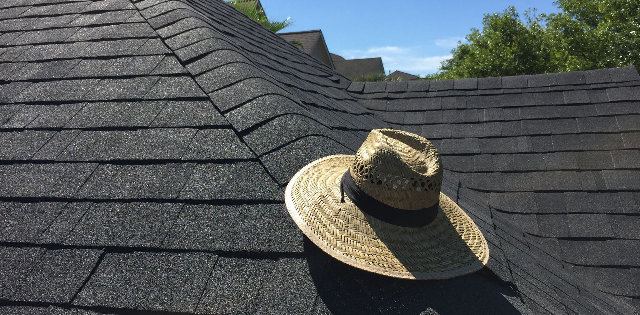 roofing hat on a roof