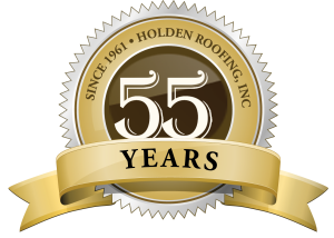 Holden Roofing 55 Years Seal