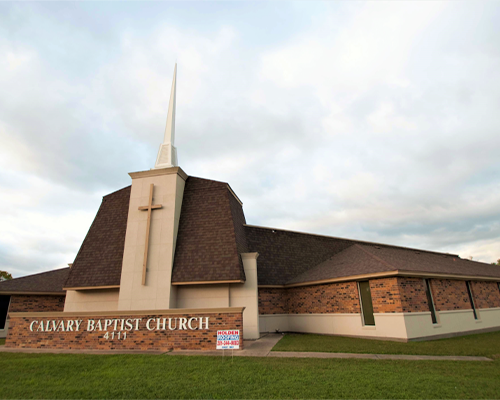 Commercial Roofing for Calvary Baptist Church