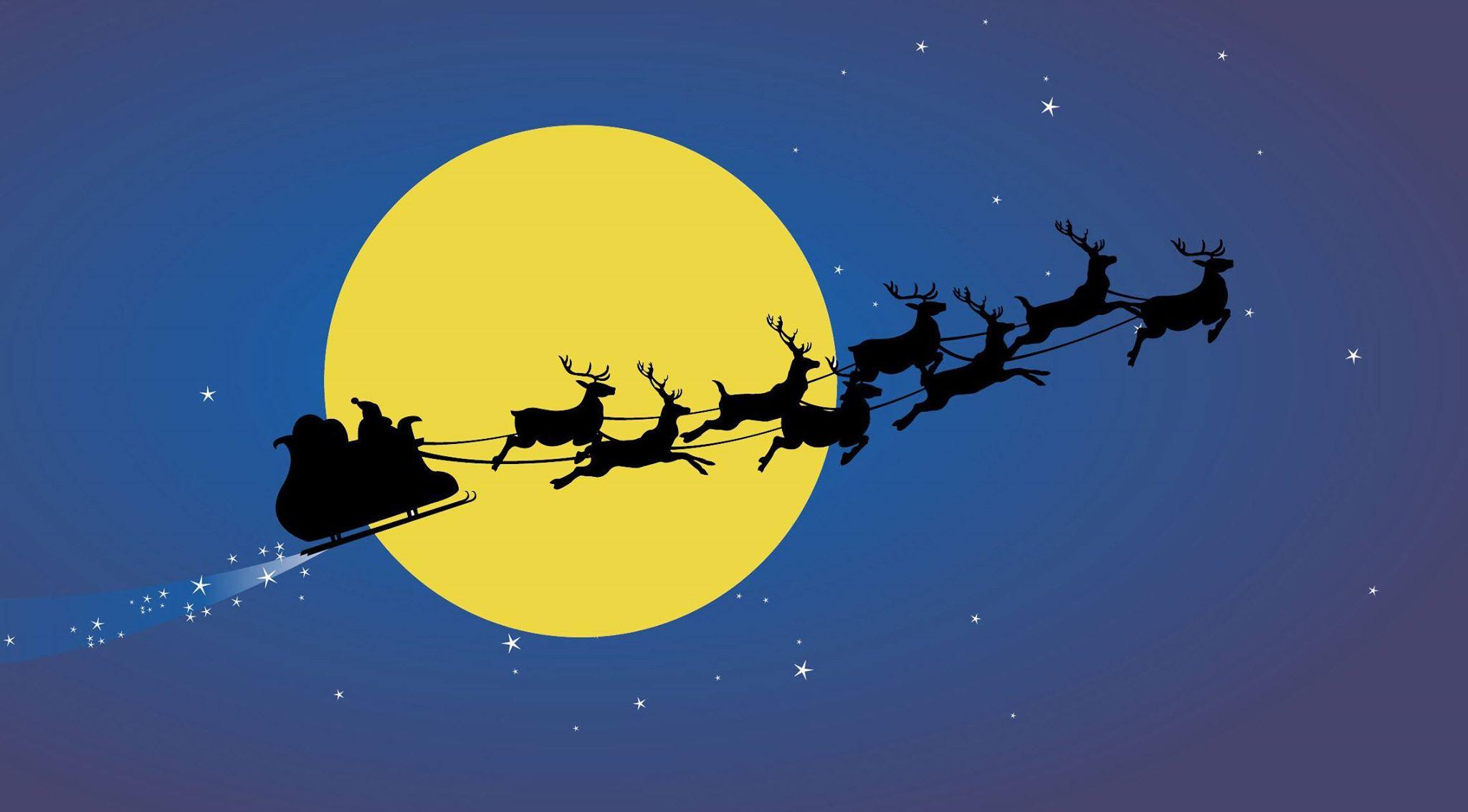 santa sleigh reindeer 1